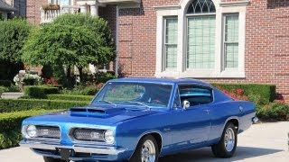 1968 Plymouth Barracuda Classic Muscle Car for Sale in MI Vanguard Motor Sales