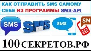 Как отправить SMS самому себе через API урок программиста