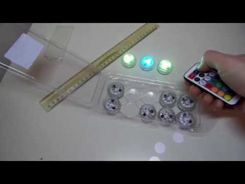 GearBest.com - 10pcs Remote Control Waterproof LED Tea Light  -  RGB COLOR