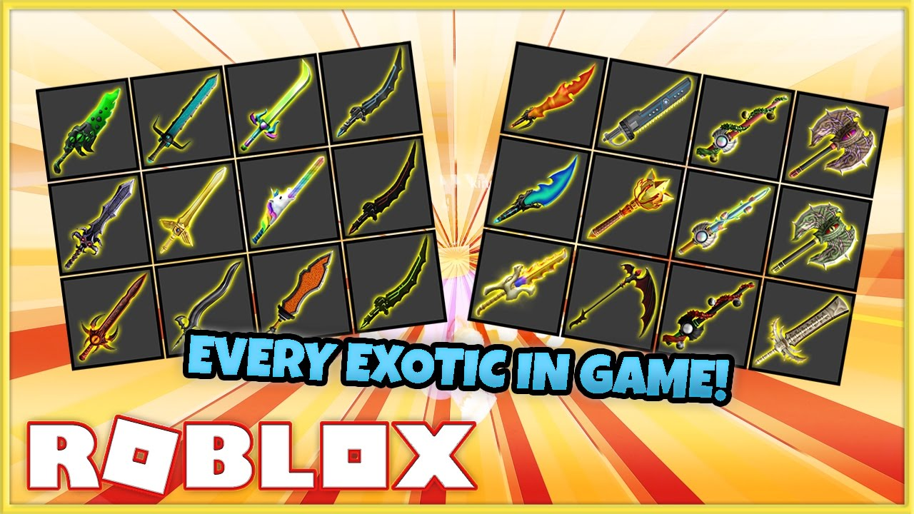 Roblox Assassin Exotics Rarity List I Got All The Exotic Knives In Assassin Roblox Youtube