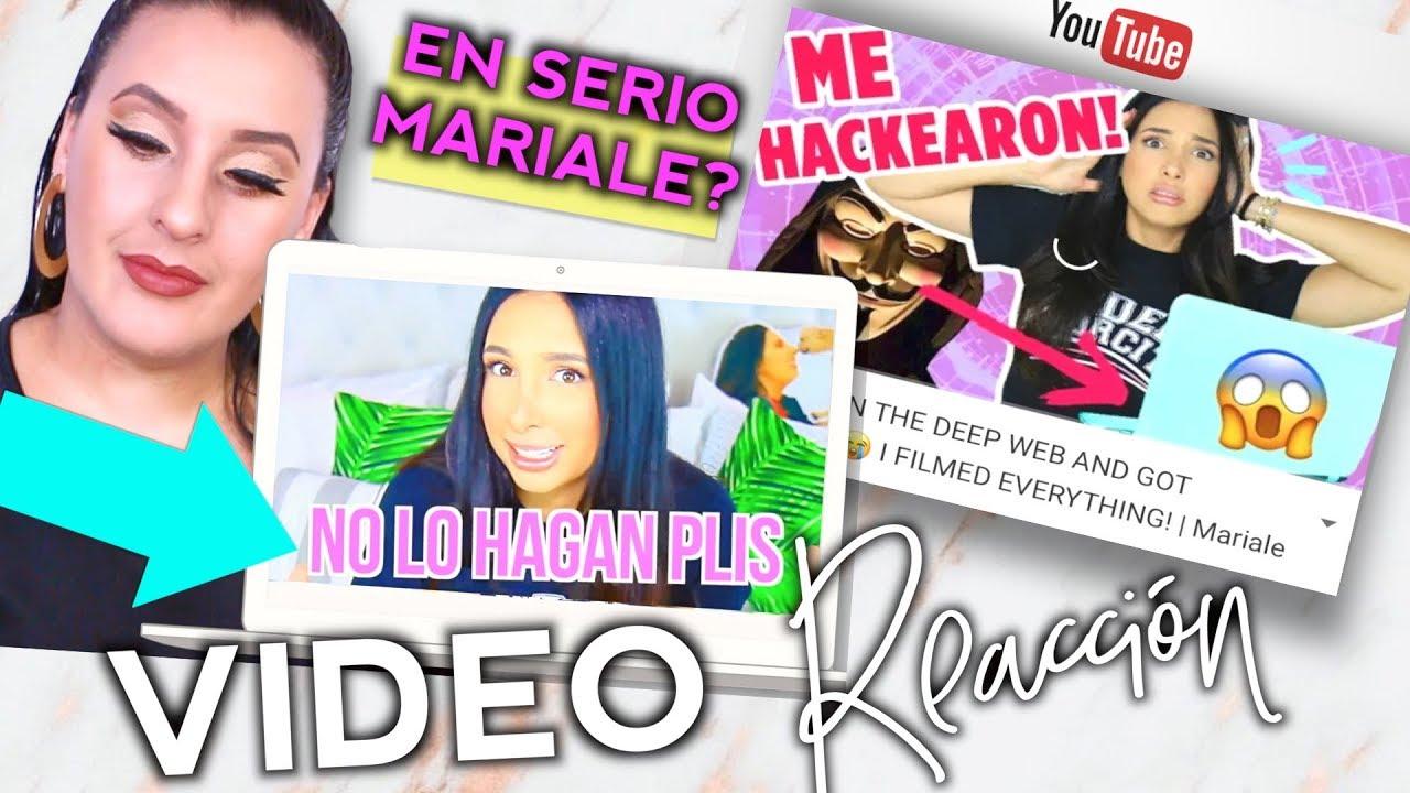 VIDEO REACCIÓN MARIALE Entré a la WEB PROHIBIDA Y ME HACKEARON | Vivi Brizuela