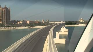 drive with monorail on Palm Jumeirah and Atlantis Aquarium