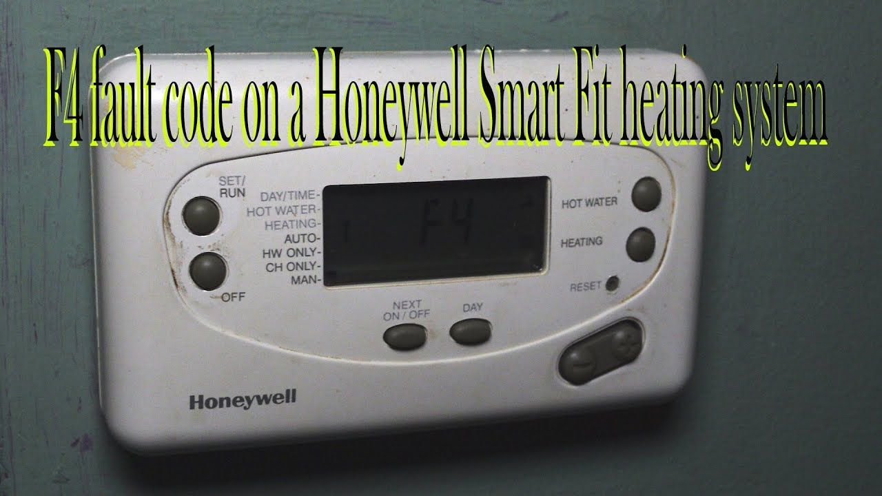 F4 Fault Code On A Honeywell Smart Fit Heating System Youtube 4 Wire Zone Valve Wiring Diagram