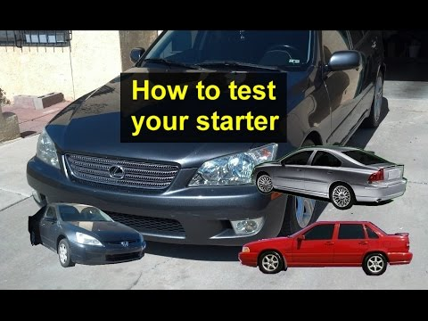 How to tell if you have a bad starter, trouble shooting, turn the key and I hear a click. - VOTD