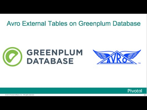 Greenplum Database and Avro Data as External Tables: Demo & Tutorial