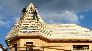 hR: Строительство крыши дома (2/2) SketchUp  Фотоотчет