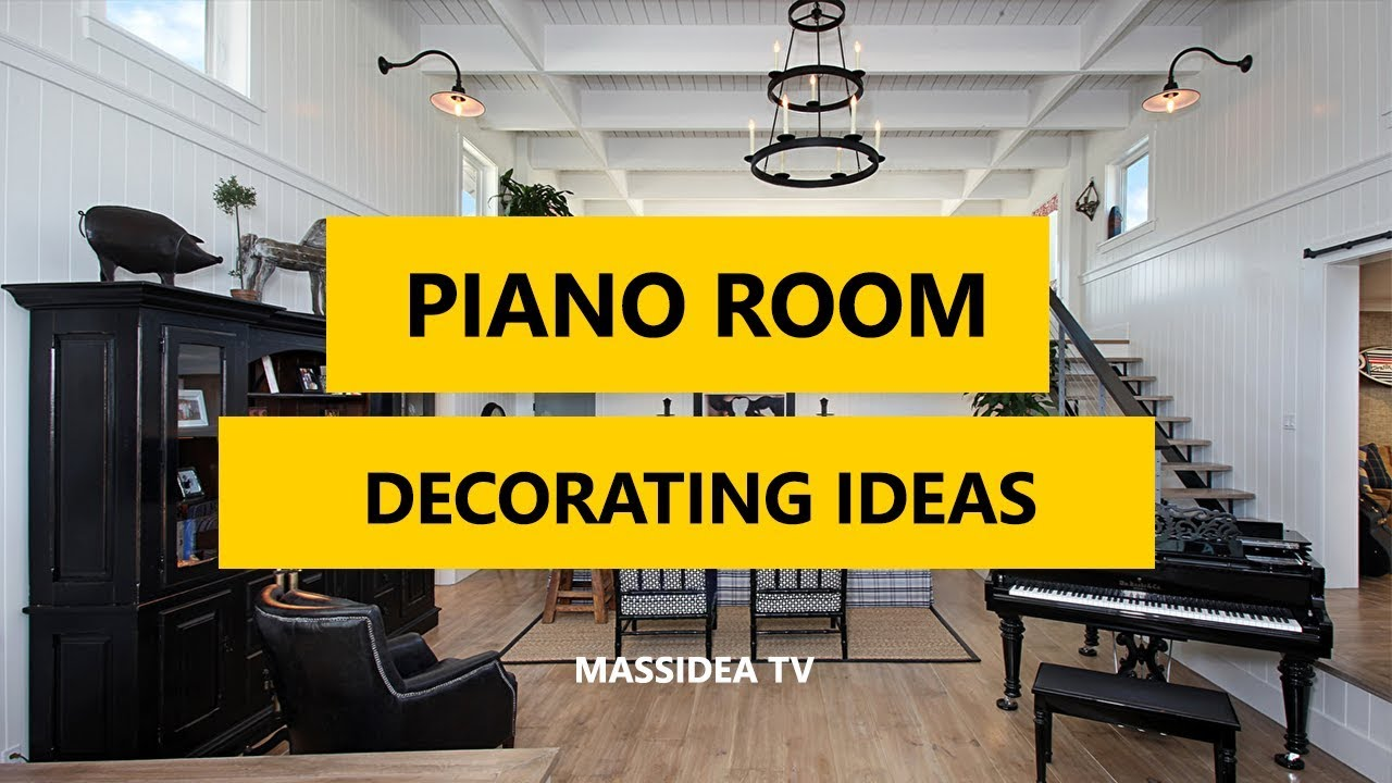 35 best grand piano room decorating ideas 2017 youtube for Piano room decor