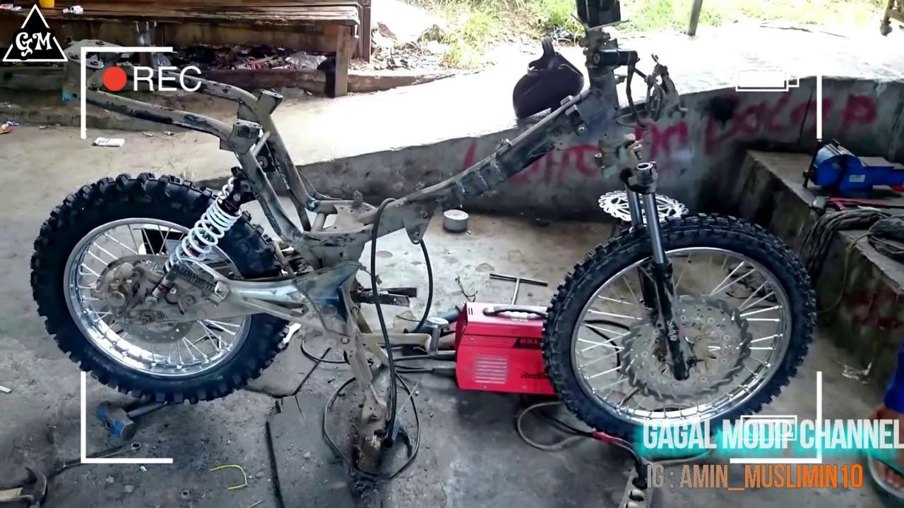 99 Modifikasi Motor Trail Bebek Supra Terkeren Rante Modifikasi