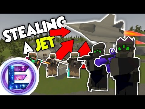 SECRET MILITARY BASE RAID - Spec ops RP/PVP - Unturned Roleplay ( Mission : Steal a Jet )