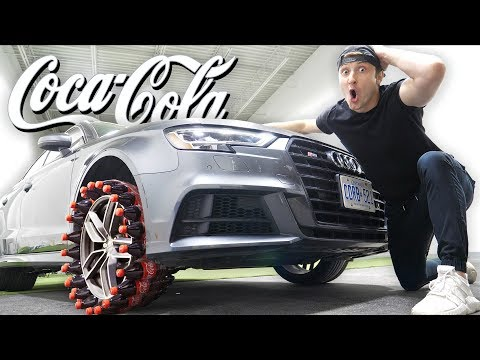 I MADE A CAR TIRE FROM COCA COLA BOTTLES!!