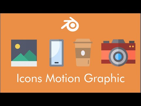 Motion Graphics : Icons Shape Morphing In Blender 2.8x