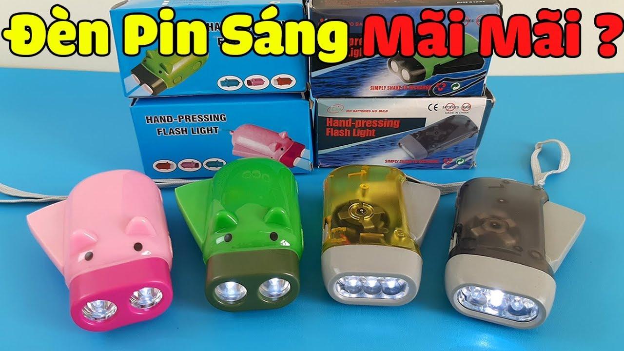 Mở Hộp Đèn Pin Tự Sạc Mua Trên Shopee – Sáng Mãi Mãi Không Sạc Và Thay Pin