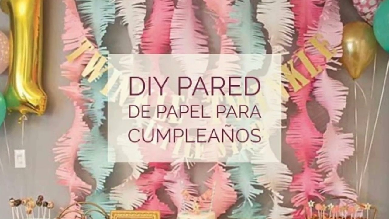 DIY PARED DE PAPEL PARA CUMPLEAOS  YouTube