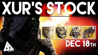 Destiny Xur December 18th - Xur's Location & Stat Roll Suggestions | Destiny The Taken King Exotics