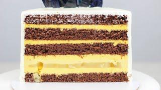 ОБАЛДЕННЫЙ РАЗРЕЗ ТОРТА Рецепт шоколадного торта с тропической начинкой Торт с муссовой начинкой