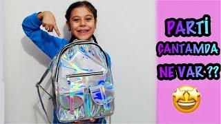 PARTİ ÇANTAMDA NE VAR ? |  what's in my party bag ? funny kid video