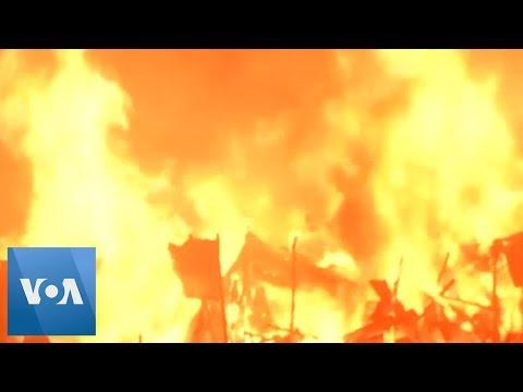 Bangladesh Blaze: Fire Engulfs Slum in Dhaka
