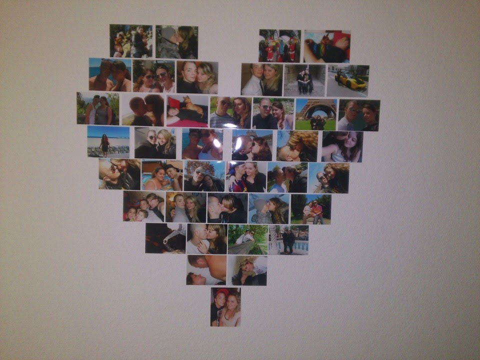 Diy d co photos en coeur youtube - Comment faire un coeur avec des photos ...