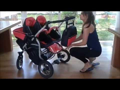 dc1f219b0 Carro gemelar Duet BBtwin - YouTube