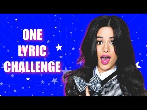 ONE LYRIC CHALLENGE #1 ★ Can you guess the song from only one lyric?