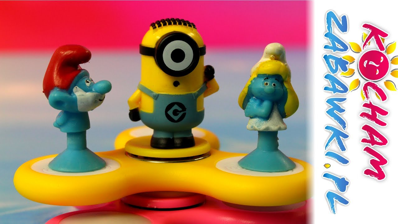 Stikeez Smerfy & Fidget Spinner & Minionki – Triki ze spinerami – Bajki dla dzieci