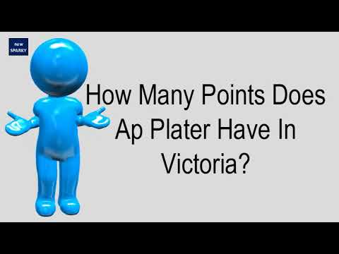 How Many Points Does Ap Plater Have In Victoria?