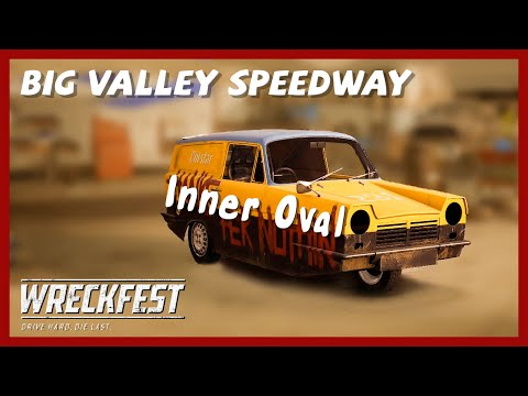 Wreckfest School Outrun the Buses Gameplay PC | Big Valley Speedway Inner Oval Racing PC