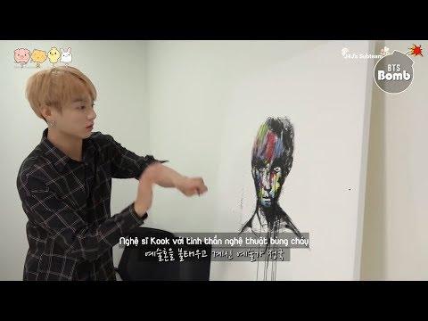 [Vietsub] Jungkook tập trung vẽ - [BANGTAN BOMB] Concentrating on drawing JK - BTS (방탄소년단)