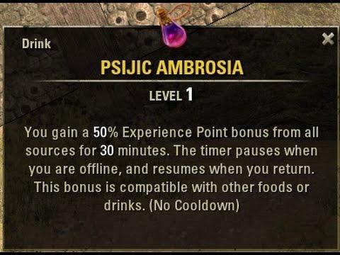 How To Get Psijic Ambrosia XP Potion In The Elder Scrolls Online
