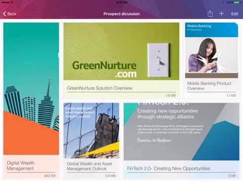 Paperflite Sales App: How to create a folio with selective content to showcase