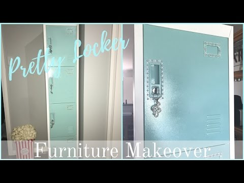 FURNITURE MAKEOVER | Pretty Metal Locker (Homemade Chalkpaint)