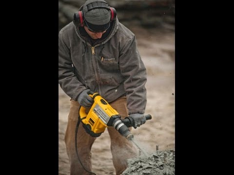 1-9/16 SDS MAX Rotary Hammer Drill Head To Head Testing
