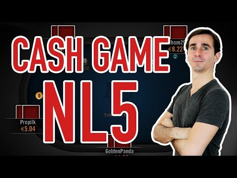 JEU TRÈS AGRESSIF EN CASH GAME NL5 (0.02/0.05€)