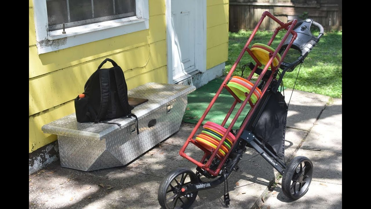diy 25 disc golf cart rack youtube