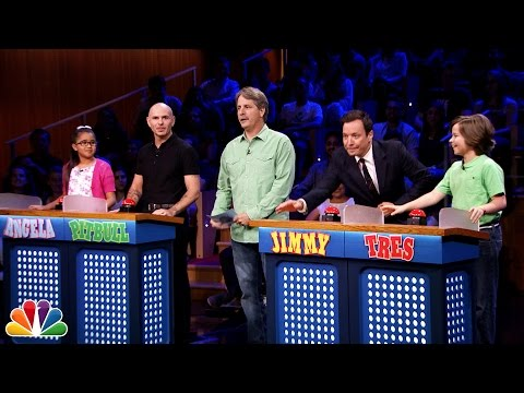 Tonight Show 'Are You Smarter than a 5th Grader?' with Pitbull and Jeff Foxworthy