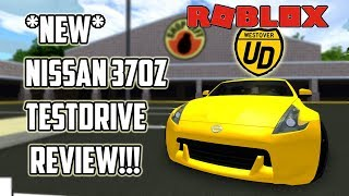 *NEW* Nissan 370z TESTDRIVE REVIEW!!!| Ultimate Driving (Roblox)