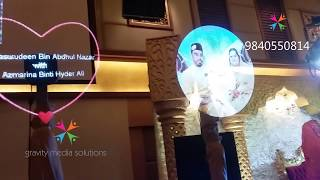 3d  HOLOGRAPHIC AIR DISPLAY (IDEAL CONVENTION CENTER - MALAYSIA)FOR WEDDING -RENTAL -9840550814