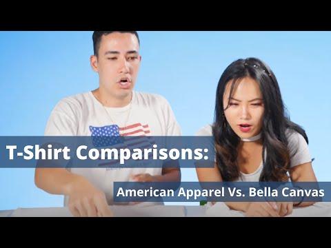 American Apparel 2001W Vs. Bella+Canvas B3001 | T-Shirt Compare