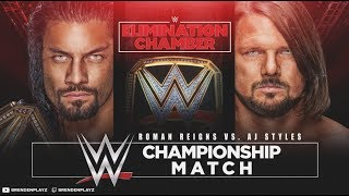 Elimination Chamber Results & Highlights (WWE 2k18 Universe Mode)