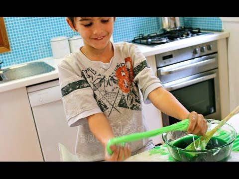 How to make green gooey slime
