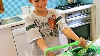 How to make green gooey slime