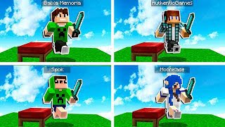 OS MAIORES YOUTUBERS BR MINECRAFT !! - BedWars