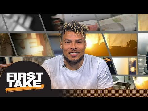 Tyrann Mathieu gets interviewed by Stephen A., Max and Molly | First Take | ESPN