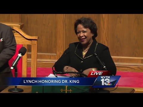 US Attorney General Loretta Lynch delivers final speech in Birmingham