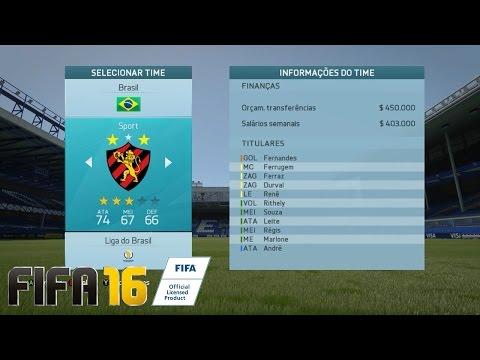 #01 - O GRANDE COMEÇO NO SPORT CLUB RECIFE !! - [FIFA 16 - MODO CARREIRA BRASILEIRÃO]
