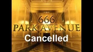 666 Park Avenue TV Series Cancelled