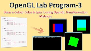 Draw Color Cube & Spin It Using Transformation Matrices | CG Lab Program – 3 | OpenGL Programming