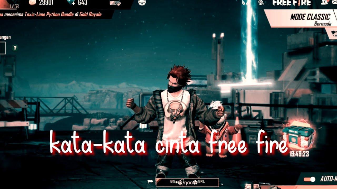 Free Fire Kata Kata Cinta Youtube