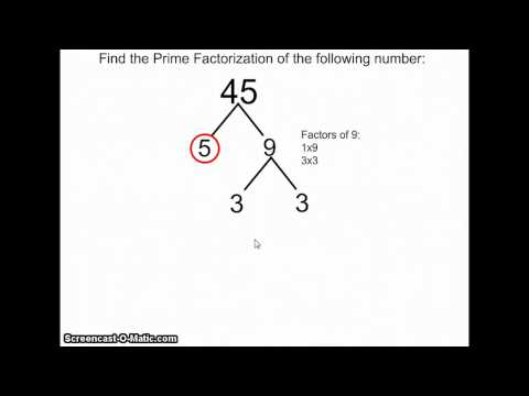 How To Find The Prime Factorization Of Number