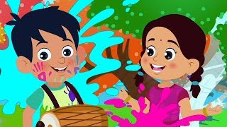 Holi Me Mach Gaya Dhamal | Hindi Festival Songs For Kids